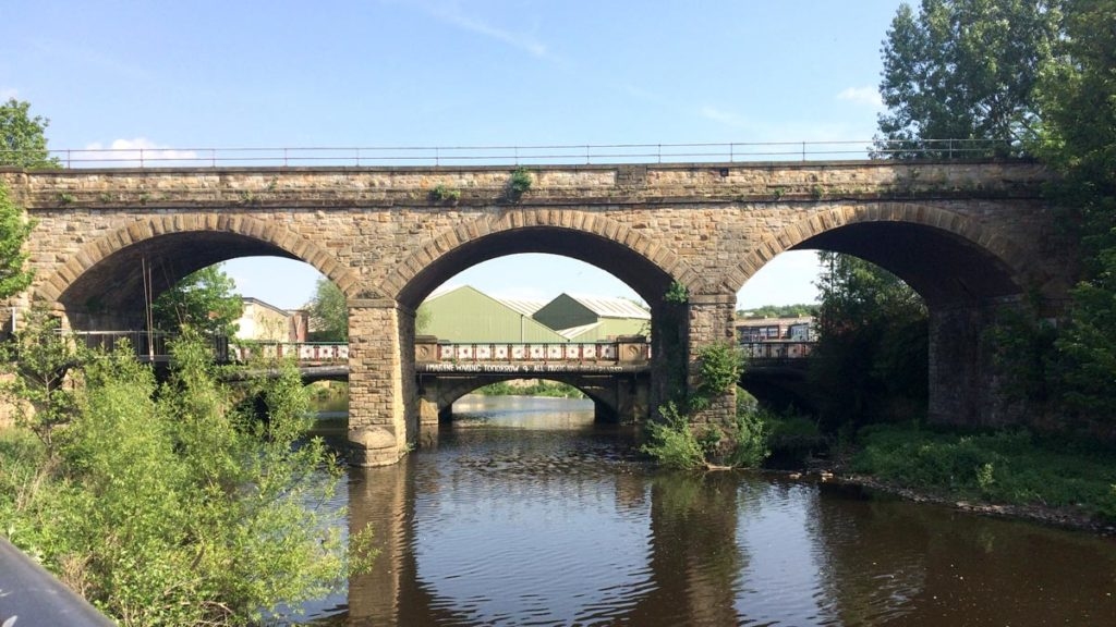 Railway arches across the river Don