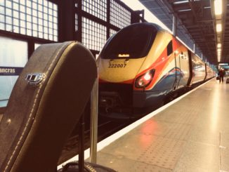 The train to Sheffield in London St Pancras station